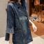 เสื้อผ้าแฟชั่นเกาหลีพร้อมส่ง โค้ตเดรสผ้าเดนิมประดับกระดุมสองแถวตกแต่งซิป thumbnail 3
