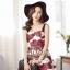 เสื้อผ้าเกาหลี พร้อมส่ง เดรสสายเดี่ยว ลุคสาวคาวาอี้ พิมพ์ลายดอกไม้สวยน่ารัก thumbnail 1