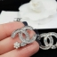 พร้อมส่ง Chanel Earring ต่างหูชาแนล งานเพชร CZ แท้ thumbnail 3