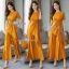 Casual Drape Top With Wide Pants Set thumbnail 4