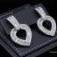พร้อมส่ง Diamond Earring งานเพชร CZ แท้ ดีไซส์หัวใจ thumbnail 1
