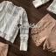 เสื้อผ้าเกาหลีพร้อมส่ง T-Shirt Lace Sweater Circle Pant Set thumbnail 11