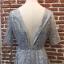 ชุดเดรสแฟชั่น พร้อมส่งNancy Luxury Grey Silver Dress thumbnail 9