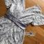 เสื้อผ้าแฟชั่น พร้อมส่งเพลสูทผ้าสีเทาอมฟ้า thumbnail 12