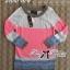 เสื้อผ้าเกาหลี พร้อมส่ง เดรสสเวตเตอร์ผ้านิตสีชมพูนีอ่อน thumbnail 3