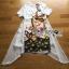 ชุดเดรสเกาหลีพร้อมส่ง เดรสผ้าโพลีเอสเตอร์และชีฟองพิมพ์ลายพร้อมเข็มขัด thumbnail 16