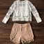 เสื้อผ้าเกาหลีพร้อมส่ง T-Shirt Lace Sweater Circle Pant Set thumbnail 10