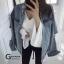 เสื้อผ้าเกาหลีพร้อมส่ง Jacket jean รุ่นขาดศอก ขาดแบบเกร๋ๆ thumbnail 16