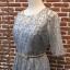 ชุดเดรสแฟชั่น พร้อมส่งNancy Luxury Grey Silver Dress thumbnail 7