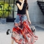 เสื้อผ้าเกาหลีพร้อมส่ง Sheila Black Top + Denim Skirt thumbnail 2