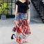 เสื้อผ้าเกาหลีพร้อมส่ง Sheila Black Top + Denim Skirt thumbnail 4
