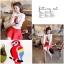 เสื้อผ้าเกาหลี พร้อมส่ง เสื้อไหมพรม ทอลายนกแก้วสีแดง ตรงช่วงอก สีสันเด่นชัด ตัวเสื้อเป็นสีขาวสวยงาม thumbnail 3