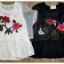 เสื้อผ้าเกาหลี พร้อมส่งเสื้อลูกไม้ปัก ใช้ผ้า 2 ตัว thumbnail 4