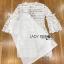 ชุดเดรสเกาหลี พร้อมส่งเดรสผ้าลูกไม้สีขาวสไตล์คลาสสิกเฟมินีน thumbnail 17