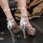 รองเท้าส้นสูง วัสดุหนังแววเงานิ่มสวย thumbnail 8