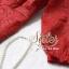 ชุดเดรสเกาหลี พร้อมส่ง เดรสสั้นสีแดงสด งานคุณภาพพรีเมียม เนื้อผ้าหนังนิ่มฉลุเป็นลายดอก thumbnail 3
