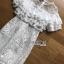 ชุดเดรสเกาหลีพร้อมส่ง เดรสชีฟองสีขาวทรงระบายเลเยอร์กระโปรงผ้าลูกไม้ thumbnail 14