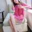 ชุดเดรสเกาหลี พร้อมส่ง มินิเดรสผ้าลูกไม้สีสดใส แพทเทิร์นทรงoversizedใส่ง่าย ใส่สบาย thumbnail 6