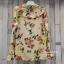 เสื้อผ้าเกาหลีพร้อมส่ง เสื้อเชิ้ตคอปกปริ้นลายดอก แบบ Gucci ดีไซน์เรียบหรู thumbnail 9