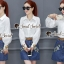 เสื้อผ้าเกาหลีพร้อมส่ง Chic Sticky Blue Flora Set thumbnail 4