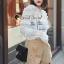 เสื้อผ้าเกาหลีพร้อมส่ง T-Shirt Lace Sweater Circle Pant Set thumbnail 8