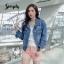เสื้อผ้าเกาหลีพร้อมส่ง Jacket Jeans เนื้อผ้ายีนส์ดีมว๊าก thumbnail 5