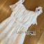 เสื้อผ้าเกาหลี พร้อมส่งจัมป์สูทผ้าลูกไม้สีขาวสไตล์แคชชวล thumbnail 11