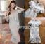 ชุดเดรสเกาหลีพร้อมส่ง เดรสชีฟองสีขาวทรงระบายเลเยอร์กระโปรงผ้าลูกไม้ thumbnail 9