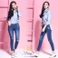 เสื้อผ้าเกาหลีพร้อมส่ง กางเกงยีนส์ทรงเดฟ ผ้ายีนส์ฮ่องกง thumbnail 12