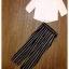 เซ็ทเสื้อ+กางเกง เสื้อเป็นผ้าชีฟองสีขาว กางเกงเป็นผ้าพื้นสีดำเนื้อดีหนามีน้ำหนัก thumbnail 5