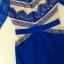 ( พร้อมส่ง) เดรสสไตล์หรูหรา โทนสีน้ำเงินสะดุดตาค่ะ cuttingสวยประณีตนะคะ ใช้วัสดุผ้าหลายชนิดค่ะ ตัวเสื้อเนื้อผ้าpolyester+nylon ทรงเข้ารูปตัดต่อลูกไม้ มีซับในในตัวค่ะ thumbnail 8