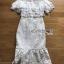 ชุดเดรสเกาหลีพร้อมส่ง เดรสชีฟองสีขาวทรงระบายเลเยอร์กระโปรงผ้าลูกไม้ thumbnail 15