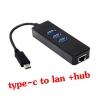 usb type-c 3.1 to lan Gigabit Ethernet with hub usb 3.0