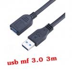 สายต่อยาวusb 3.0 Extention cable AM AF 3m มีหัวพลาสติกคลอบกันไฟดุด