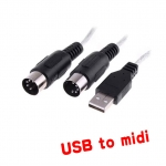 USB 2.0 to MIDI cable for Music Keyboard