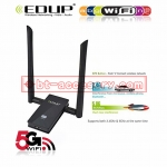 EDUP ตัวรับสัญญาณwifi usb 3.0 AC 1200MBPS DUAL BAND WIFI WITH DUAL ANTENNAS EP-1605
