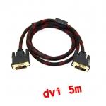 สายจอ DVI to dvi 24+1 ยาว5m สายถัก -black