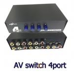 AV SELECT video audio SWITH เข้า4ออก1โดยมีปุ่มกดสลับการแสดงผล