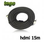 tego ส่าย ถัก HDMI full hd 3D v1.4 ยาว 15M แบบดี