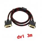 สายจอ DVI to dvi 24+1 ยาว3m สายถัก -black