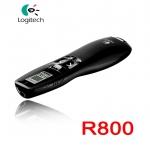 รีโมทพรีเซนไร้สายLaser pointer presenter Logitech R800 ไฟสี่เขียว -black