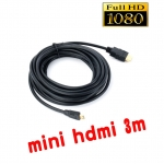 mini hdmi to hdmi cable 3m full hd 3D มีเสียงด้วย
