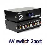 AV SELECT video audio SWITH เข้า2ออก1โดยมีปุ่มกดสลับการแสดงผล