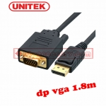 UNTIEK สายแปลง display port to VGA 1.8m