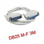 สายParallel Cable DB25 Male to Female 3m