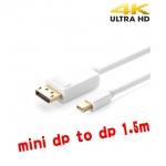 mini displayport to displayport V1.2 1.5mใช้สลับกันได้ แบบดี