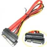 สายต่อยาว SATA 15p+7pin 30cm -red
