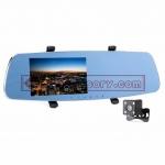 Rearview mirror กล้องติดรถยนต์ กระจก 2กล้อง 170º จอ5นิ้ว 1296P เป็นกล้องถอยหลังได้ด้วย