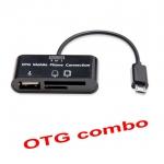 สาย แปลง micro usb OTG combo with hcard reader sd tf card