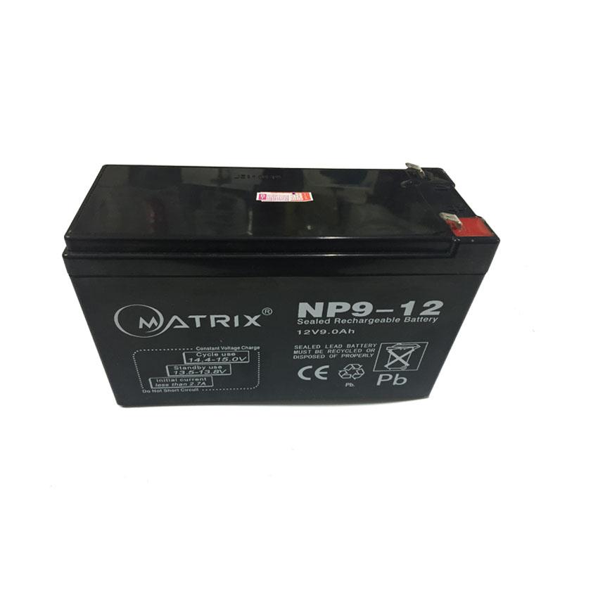 แบตเตอรี่ MATRIX UPS ขนาด 12V 9A ใช้กับเครื่องสำรองไฟ